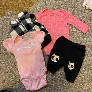 4 Piece Newborn Baby Girl Set  🌸